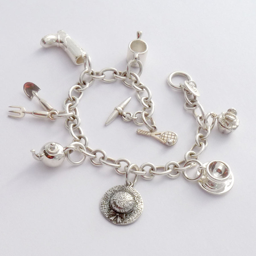 English Garden Charm Bracelet - Joy Everley Fine Jewellers, London