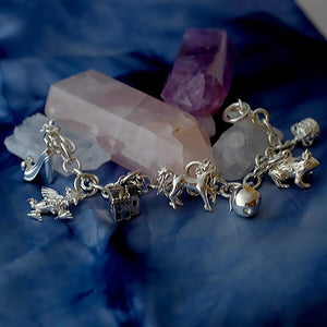 Fairytale Silver Charm Bracelet by Joy Everley
