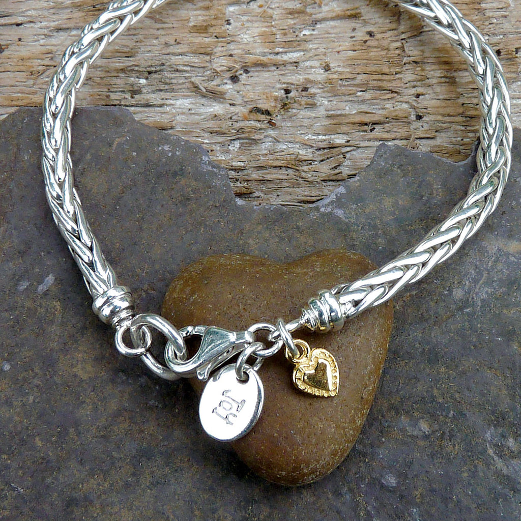 Lovers Foxtail & Heart Bracelet