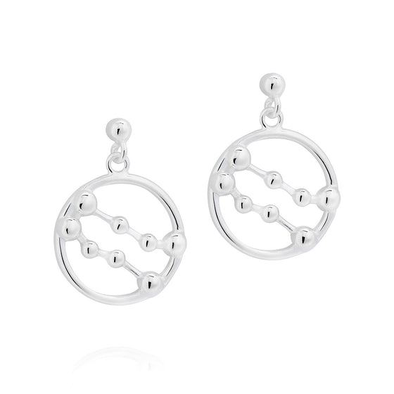 Gemini Astrology Drop Studs - Joy Everley Fine Jewellers, London
