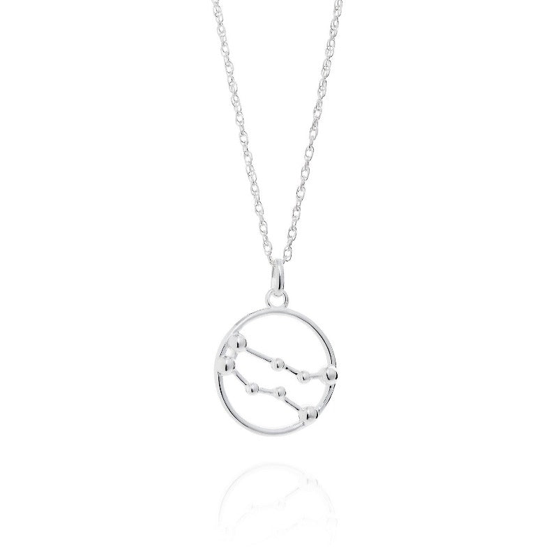 Gemini Astrology Silver Necklace by Yasmin Everley