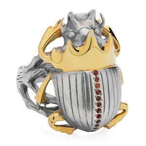 Gilded Scarab Ring - Joy Everley Fine Jewellers, London