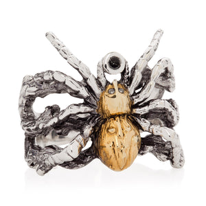 Gilded Spider Ring - Joy Everley Fine Jewellers, London