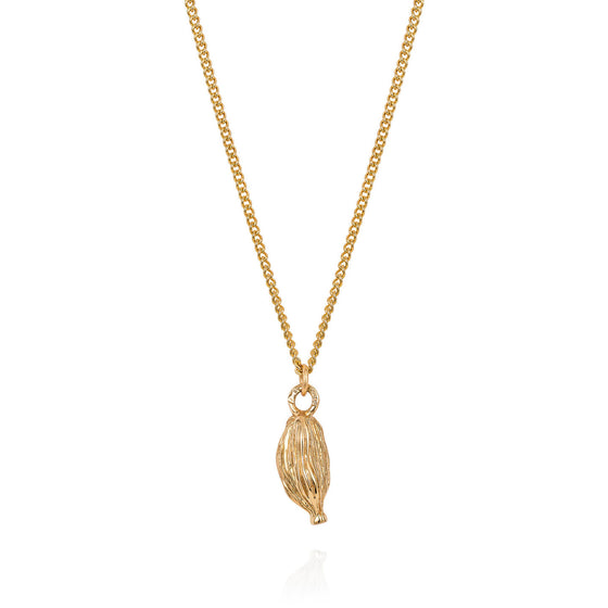 Gold Cardamom Pod & Diamond Necklace - Joy Everley Fine Jewellers, London