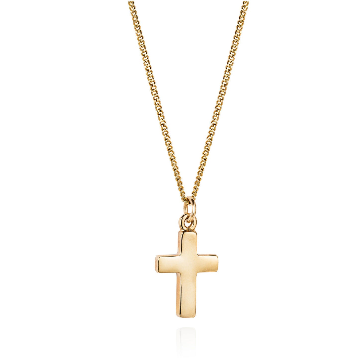 Gold cross necklace joy everley fine jewellers london gold cross necklace mozeypictures Image collections