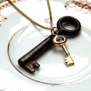 Gold Key Necklace - Joy Everley Fine Jewellers, London