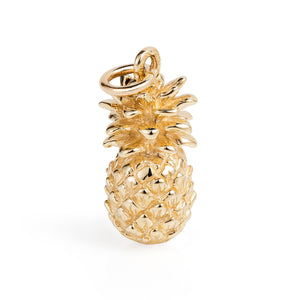 Gold Pineapple Charm - Joy Everley Fine Jewellers, London