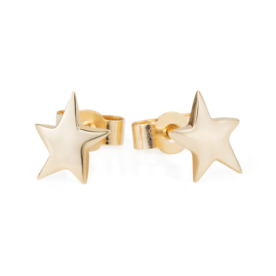 9ct Yellow Gold Star Studs by Joy Everley