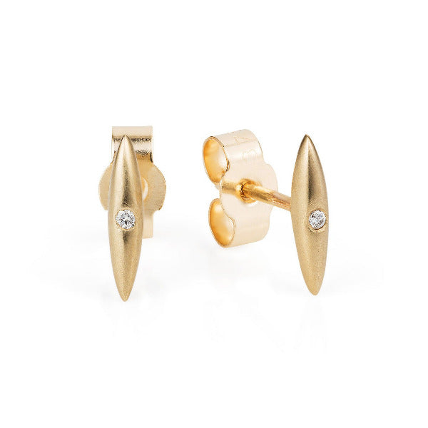 Gold Telstar Diamond Studs - Joy Everley Fine Jewellers, London