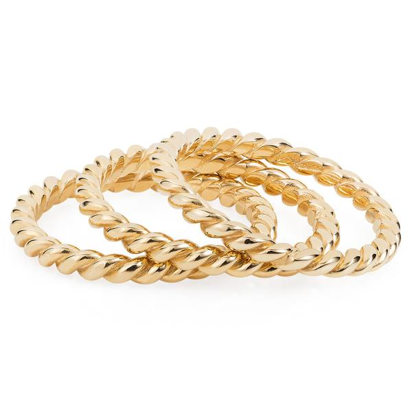 Solid Gold Fine Twist Ring by Joy Everley