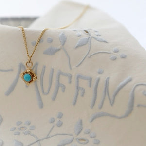Gold Georgian and Turquoise Necklace - Joy Everley Fine Jewellers, London