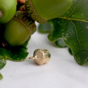 Solid Gold Acorn Charm by Joy Everley