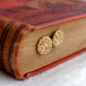 Solid Gold Baroque Ear Studs