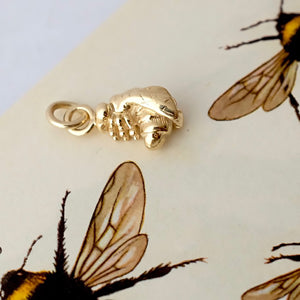 Solid Gold Little Bumble Bee Charm by Joy Everley