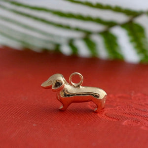 Solid Gold Dachshund Charm By Joy Everley