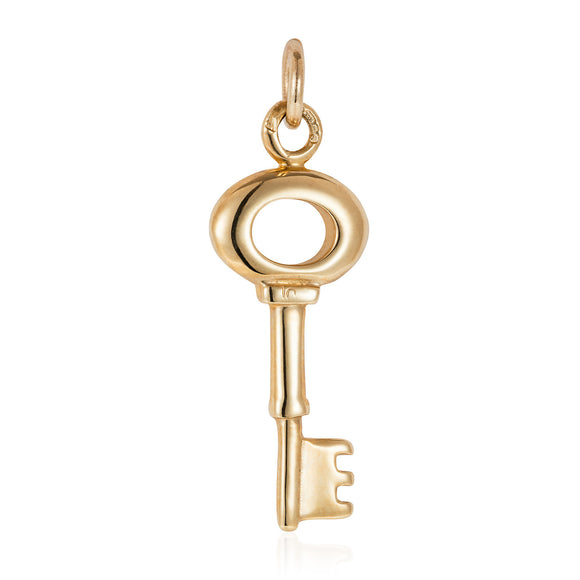 Gold Small Key Charm