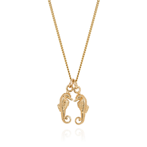 Gold Seahorses Friendship Necklace - Joy Everley Fine Jewellers, London