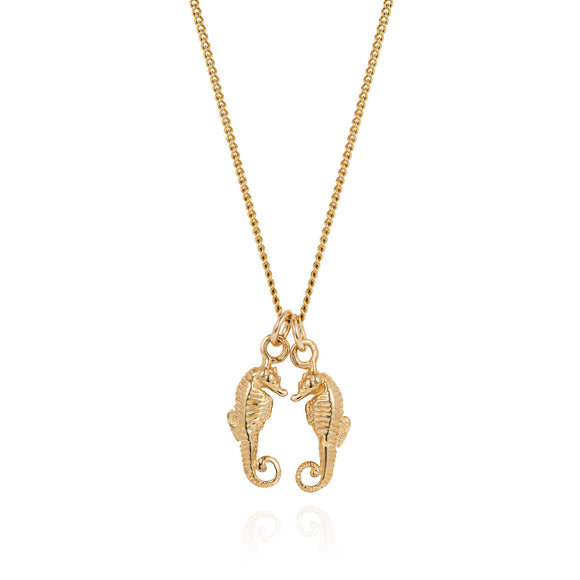 Gold Seahorses Friendship Necklace
