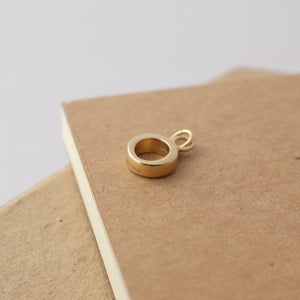 Simple Circle Solid Gold Charm by Joy Everley