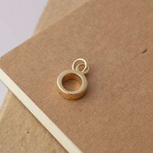Simple Circle Solid Gold Necklace by Joy Everley