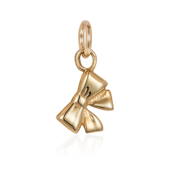 Gold Tiny Bow Charm - Joy Everley Fine Jewellers, London