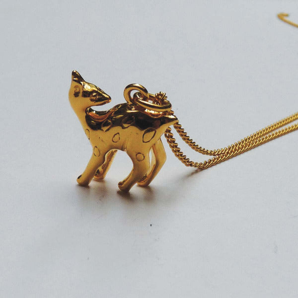 Golden Fawn Necklace - Joy Everley Fine Jewellers, London