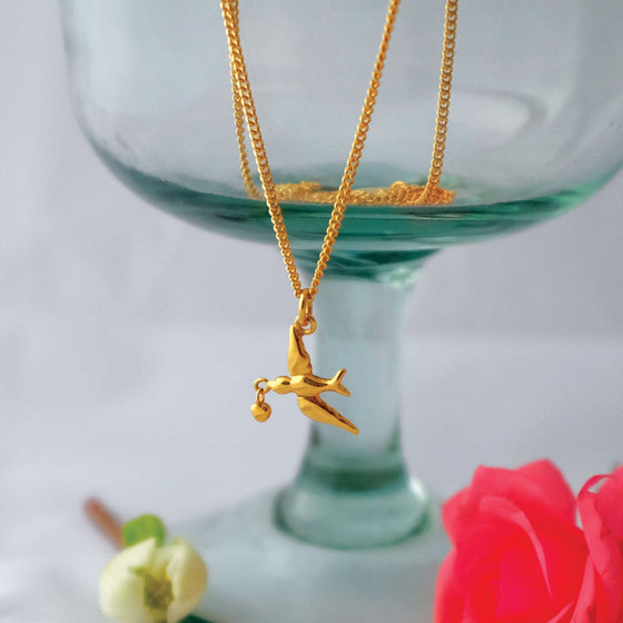 Vermeil Love Bird Necklace - Joy Everley Fine Jewellers, London