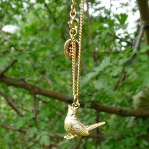 Golden Wren Necklace - Joy Everley Fine Jewellers, London