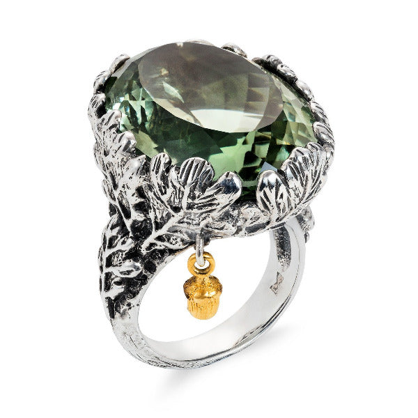 Woodland Silver Cocktail Ring by Joy Everley