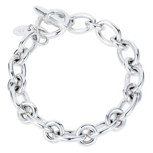 Heavy JE Silver Bracelet - Joy Everley Fine Jewellers, London