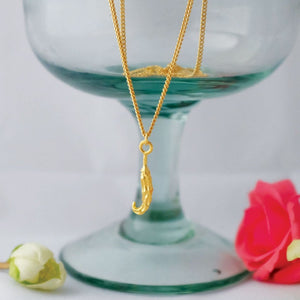 Golden Chilli Pendant Necklace