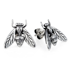 Hoverfly Ear Studs - Joy Everley Fine Jewellers, London