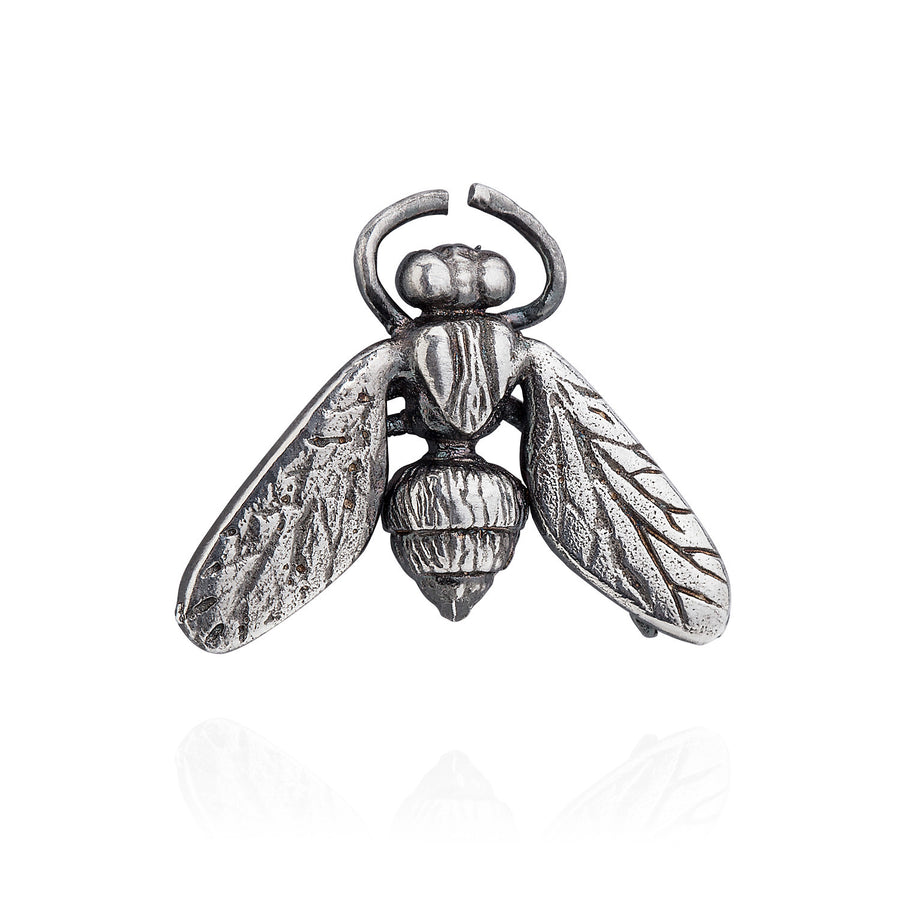 Hoverfly Lapel Pin - Joy Everley Fine Jewellers, London