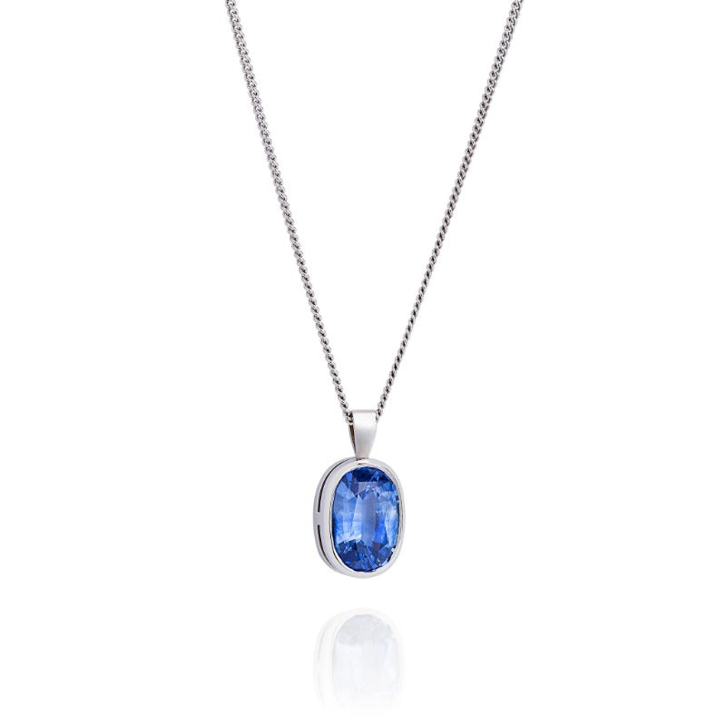 kwon products jennie designs necklace sapphire halo