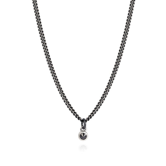 Inverted Black Diamond Necklace