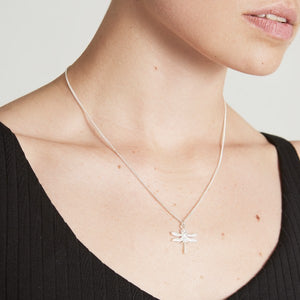 Little Silver Dragonfly Necklace by Joy Everley