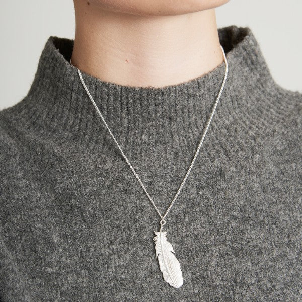 Buzzard Feather Necklace - Joy Everley Fine Jewellers, London