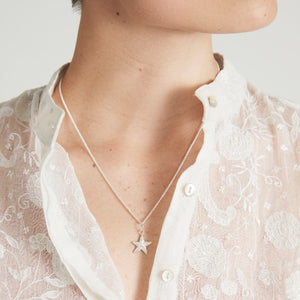Silver Starfish Necklace by Joy Everley