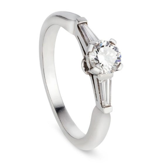 Platinum Trilogy Engagement Ring