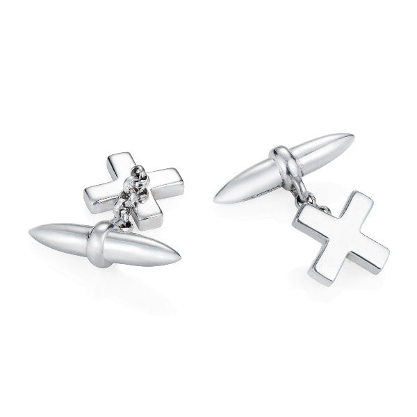 Kiss Cross Cufflinks - Joy Everley Fine Jewellers, London