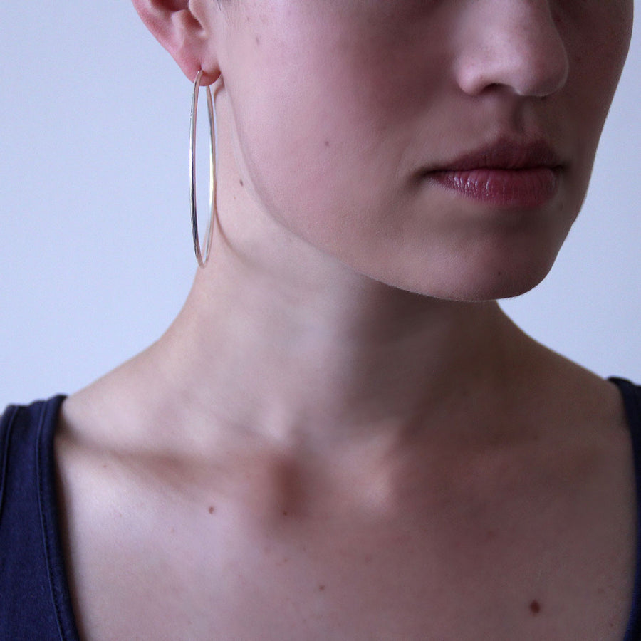 Large Silver Hoops - Joy Everley Fine Jewellers, London