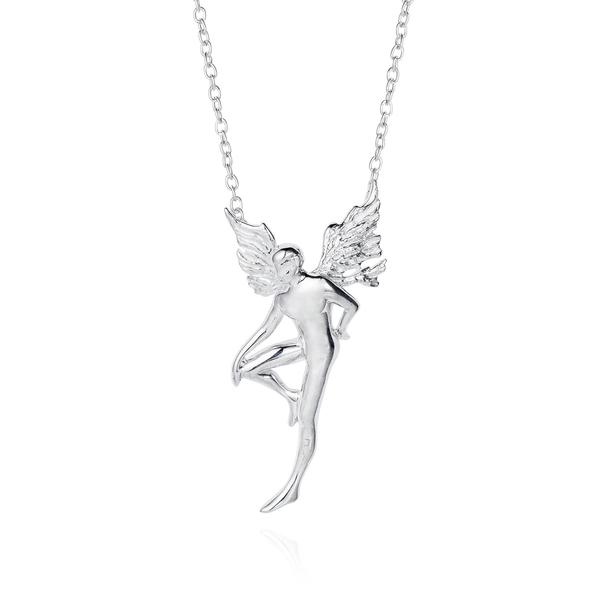 Small Silver Boy Fairy Necklace - Joy Everley Fine Jewellers, London