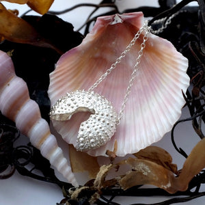 Silver Sea Urchin Necklace