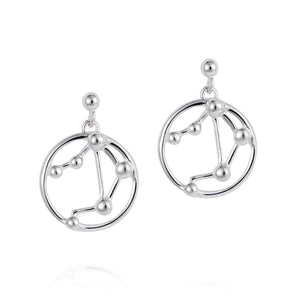 Libra Astrology Drop Studs - Joy Everley Fine Jewellers, London