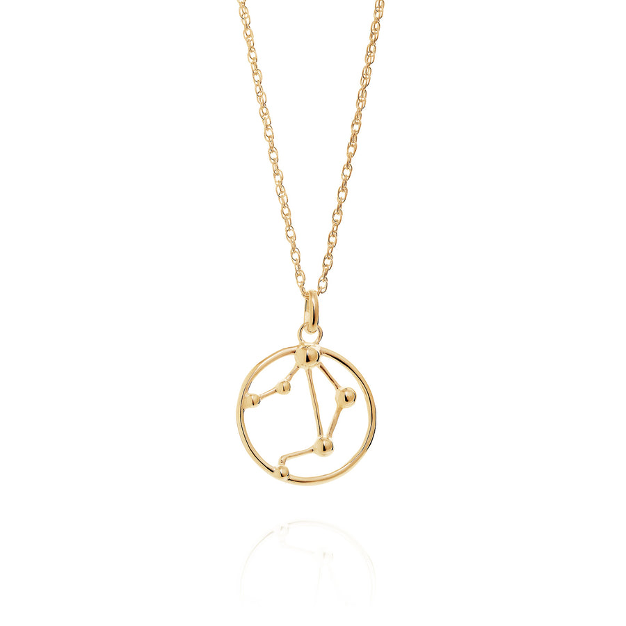 Solid Gold Libra Astrology Necklace by Yasmin Everley