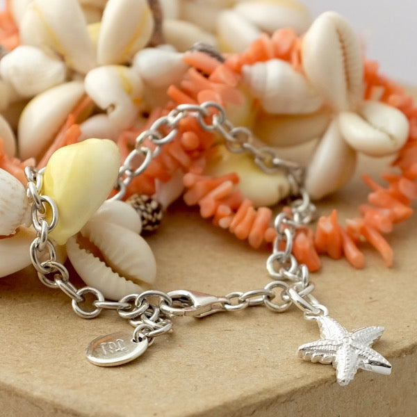 Silver Starfish Bracelet by Joy Everley