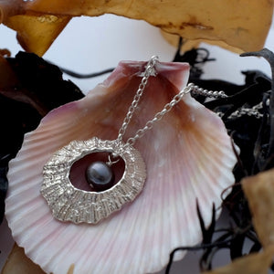 Silver Hollow Limpet Necklace by Jennifer Kinnear