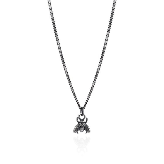 Dark Silver Little Fly Necklace