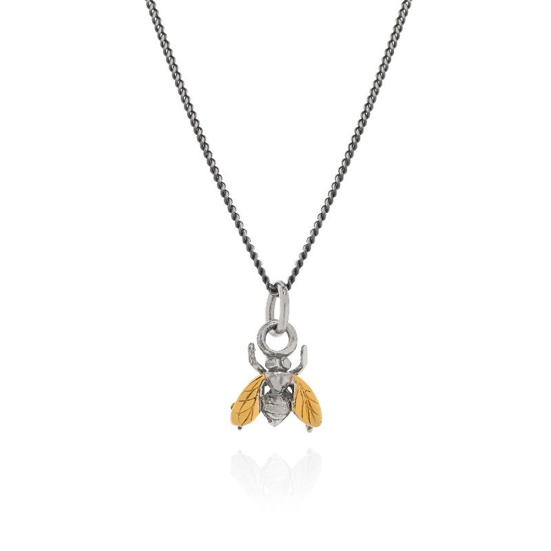 Gilded Little Fly Necklace - Joy Everley Fine Jewellers, London
