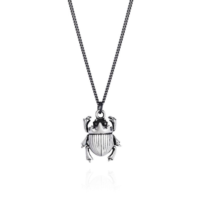Little Scarab Necklace Light Curb Chain